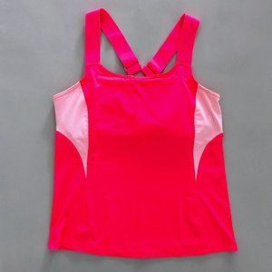 TAIL Women's Bright Pink Athletic Tank Top Lg